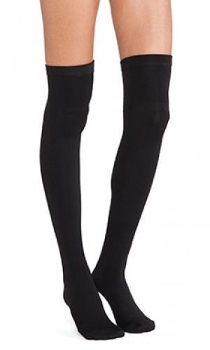 Thigh high fleece lined leggings Plush. Цвет: черный
