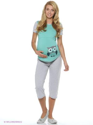 Пижама EUROMAMA. Цвет: серый