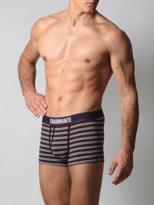 Трусы-боксеры мужские Charmante. Цвет: серый, бордовый