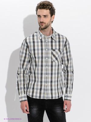 Рубашка LEE. Цвет: серый, белый