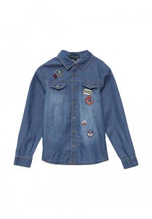 Рубашка джинсовая Z Generation. Цвет: синий