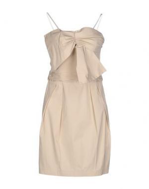Короткое платье ANNARITA N.. Цвет: бежевый