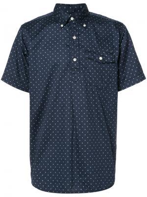Рубашка с короткими рукавами в горох Engineered Garments. Цвет: синий