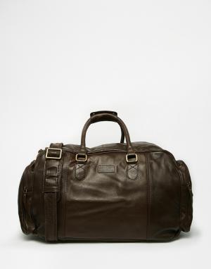 Racing Green Кожаная сумка. Цвет: коричневый
