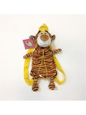 Мягкая игрушка-рюкзак Сумчатый Тигрик Malvina. Цвет: оранжевый