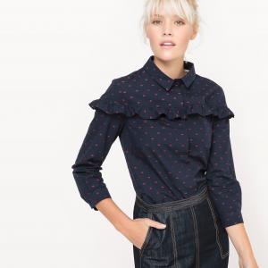 Рубашка с воланом MADEMOISELLE R. Цвет: темно-синий