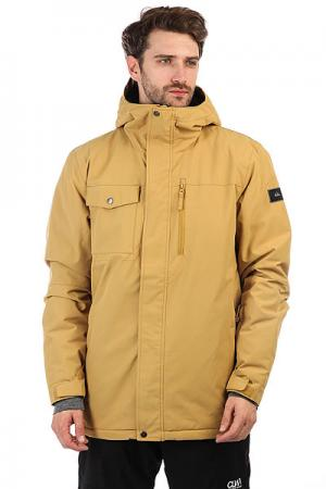 Куртка утепленная  Mission Sol Mustard Gold Quiksilver. Цвет: желтый