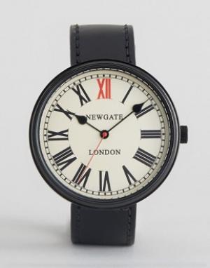 Newgate Часы с черным кожаным ремешком. Цвет: черный