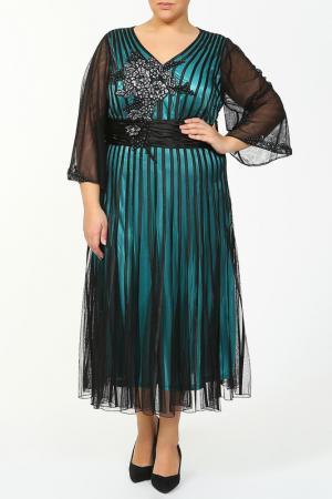 Платье Lia Mara. Цвет: голубой, зеленый
