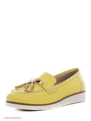 Лоферы La pinta. Цвет: желтый