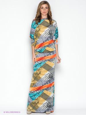 Платье МадаМ Т. Цвет: бежевый, оранжевый