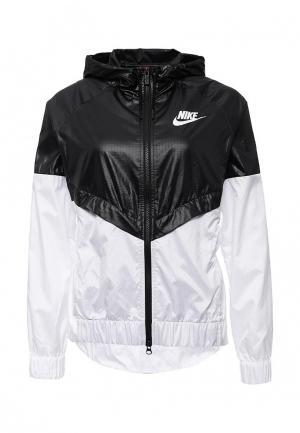Ветровка Nike. Цвет: черно-белый