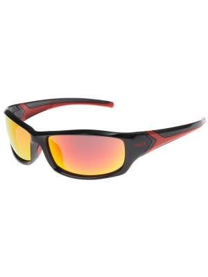 Солнцезащитные очки Uvex. Цвет: черный, красный