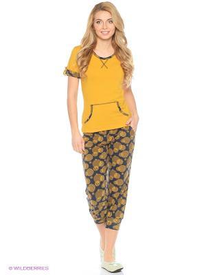 Женская пижама NICOLETTA. Цвет: горчичный