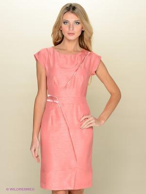 Платье KEY FASHION. Цвет: коралловый