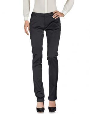 Повседневные брюки SCRUPOLI. Цвет: черный