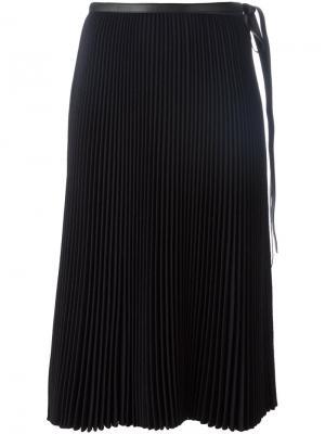 Плиссированная юбка Valentino. Цвет: синий