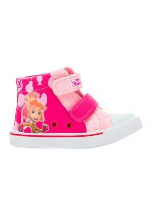 Ботинки Fixiki. Цвет: розовый (розовый), синий (голубой), черный