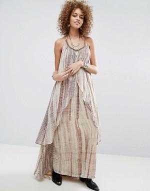 Raga Многослойное платье макси Aphrodite. Цвет: коричневый