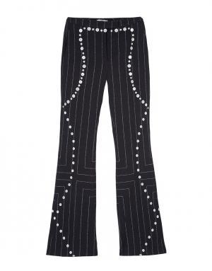 Шерстяные брюки Edun. Цвет: черно-белый