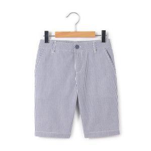 Бермуды для мальчика La Redoute Collections. Цвет: в полоску синий/белый