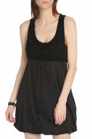 Легкое платье в классическом стиле ERMANNO BY SCERVINO. Цвет: 900 black