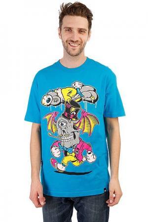 Футболка  Wing Rat Turquoise Osiris. Цвет: синий
