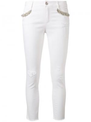 Декорированные джинсы скинни Ermanno Scervino. Цвет: красный