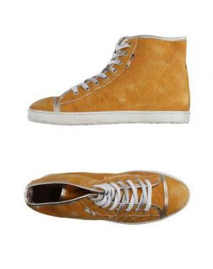 Высокие кеды и кроссовки YAB. Цвет: охра
