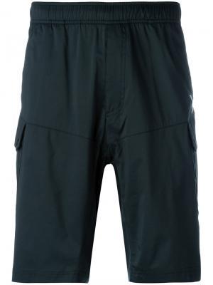 Свободные спортивные шорты Adidas By White Mountaineering. Цвет: чёрный