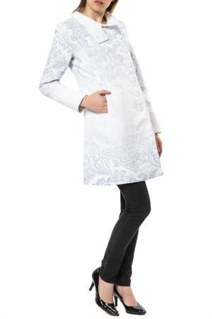 Пальто Desigual. Цвет: white and blue
