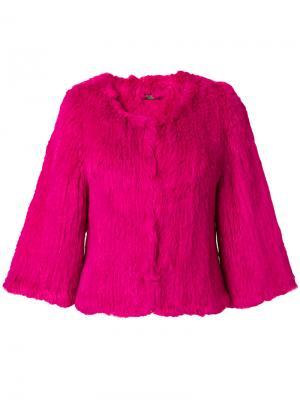 Укороченная куртка Yves Salomon Accessories. Цвет: розовый и фиолетовый