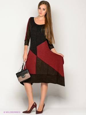 Платье МадаМ Т. Цвет: антрацитовый, темно-коричневый, бордовый