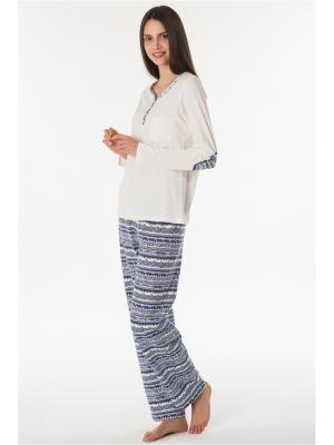 Пижама Kom. Цвет: синий, молочный