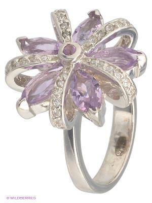 Кольцо Митра Ювелир. Цвет: фиолетовый, белый, серебристый