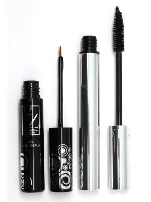 Промо-набор  декоративной косметики YZ (тушь +сыворотка для роста ресниц) ИЛЛОЗУР. Цвет: черный, прозрачный