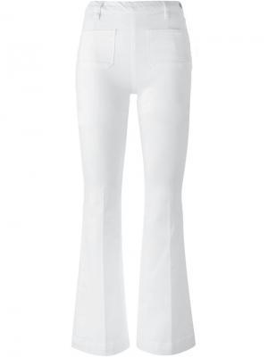 Расклешеные джинсы Frame Denim. Цвет: белый