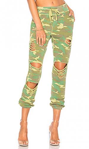 Свободные брюки sayde NSF. Цвет: зеленый