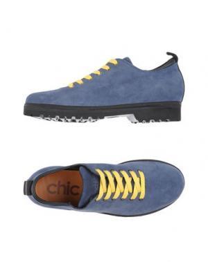 Обувь на шнурках PÀNCHIC. Цвет: грифельно-синий