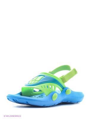 Детские тапочки FLOP Mad Wave. Цвет: зеленый, синий