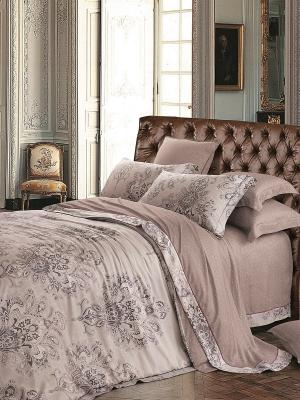 Комплект постельного белья Jardin. Цвет: серо-коричневый