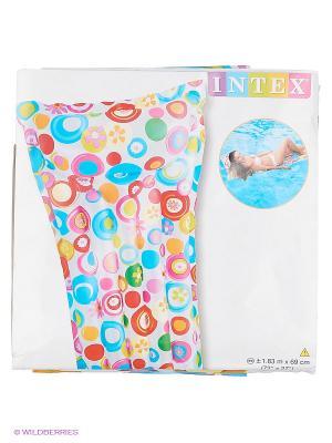 Матрац надувной Intex. Цвет: белый, синий, красный, желтый