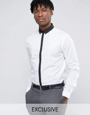 Noak Рубашка с контрастным воротником и планкой. Цвет: белый