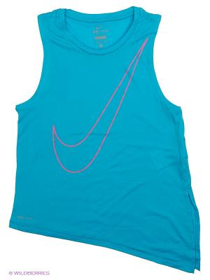 Топ NIKE SIDE TIE TOP YTH. Цвет: синий