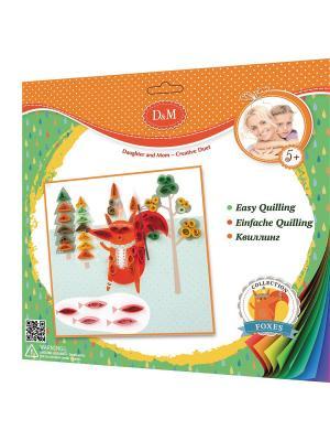 Набор для квиллинга Лисенок Делай с мамой. Цвет: оранжевый