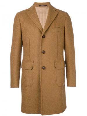 Однобортное пальто Tagliatore. Цвет: коричневый