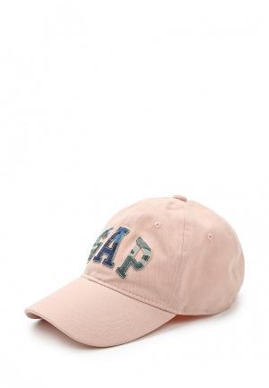 Бейсболка Gap. Цвет: розовый