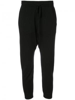 Укороченные спортивные брюки Nili Lotan. Цвет: чёрный