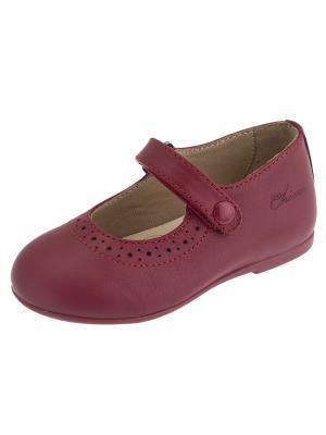 Туфли CHICCO. Цвет: бордовый