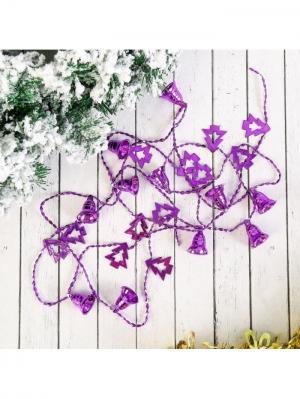 Украшение новогоднее Бусы Новогодняя ярмарка. Цвет: темно-фиолетовый